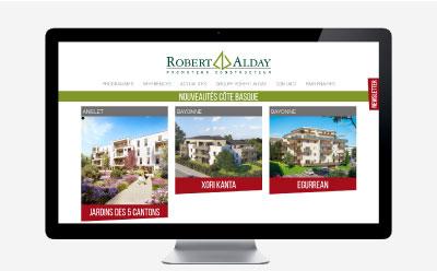 Alday Immobilier, promoteur constructeur de logements neufs passe au responsive mobile avec l'agence web REZO 21 Pays basque