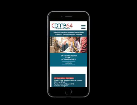 REZO 21 agence web pays basque réalise le site de la CPME Pyrénées Atlantiques vue sur mobile