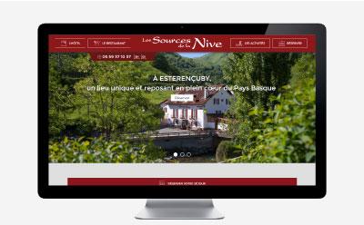 L'Hôtel Restaurant les Sources de la Nive renouvelle complètement son site Internet avec l'agence web REZO 21
