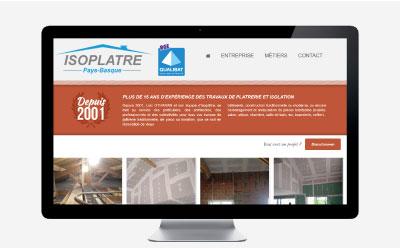 Isoplâtre Pays Basque confie la refonte de son site Internet à l'agence web REZO 21