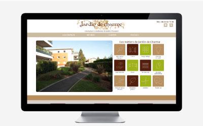 Jardin de Charme se dote d'un nouveau site internet responsive mobile avec l'agence web REZO 21