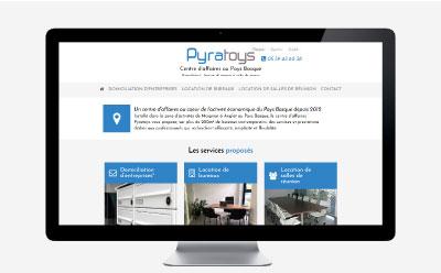 Le centre d'affaires Pyratoys a Anglet lance son site Internet avec REZO 21