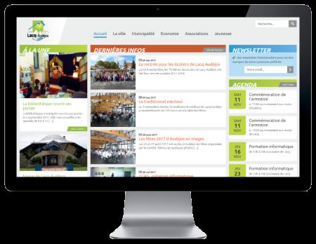 La mairie de Lacq-Audéjos confie la refonte de son site Internet à l'agence web REZO 21 Pays Basque sur grand ecran