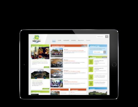 La mairie de Lacq-Audéjos confie la refonte de son site Internet à l'agence web REZO 21 Pays Basque responsive tablette