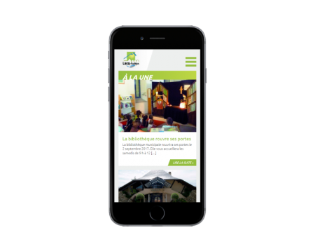 La mairie de Lacq-Audéjos confie la refonte de son site Internet à l'agence web REZO 21 Pays Basque responsive mobile