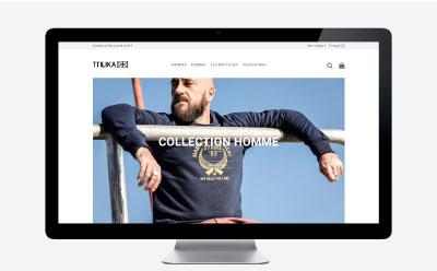 TTILIKA, marque de textile basque créée en 1999 confie la refonte de son e-commerce à l'agence web REZO 21