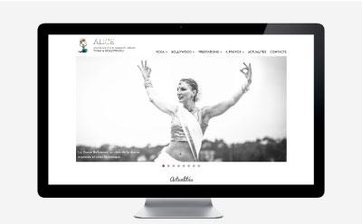 Alice Kieffer, professeure de yoga et de danse indienne lance son nouveau site Internet