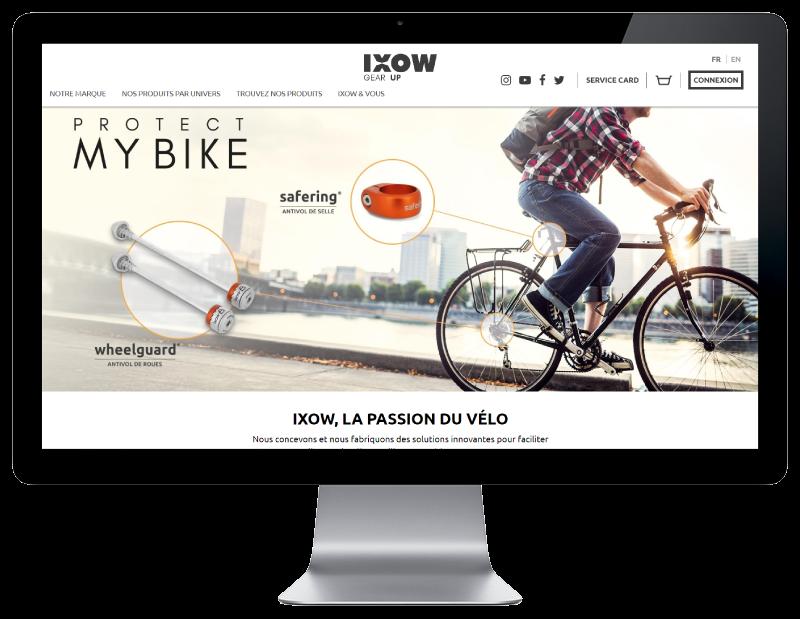L'agence web REZO 21 Pays basque développe le e-commerce d'IXOW sur grand écran