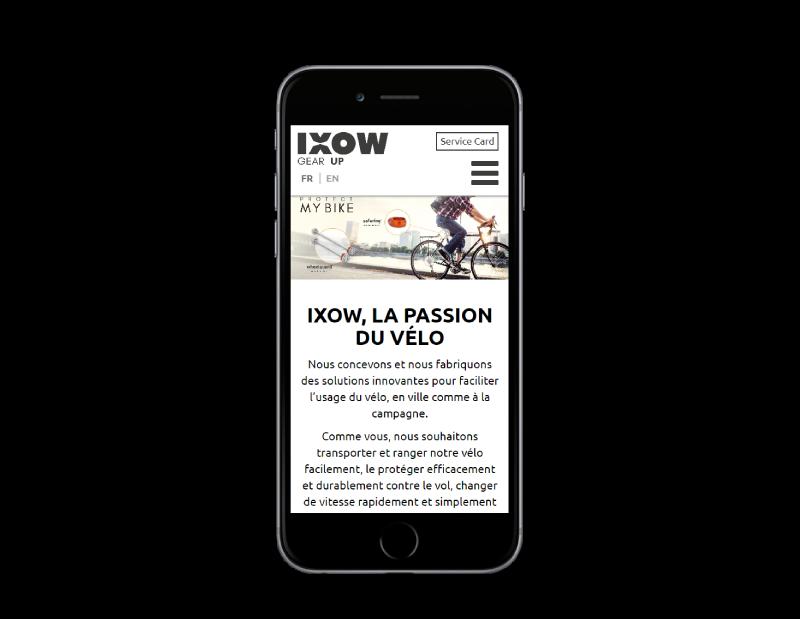 L'agence web REZO 21 Pays basque développe le e-commerce d'IXOW responsive mobile woocommerce