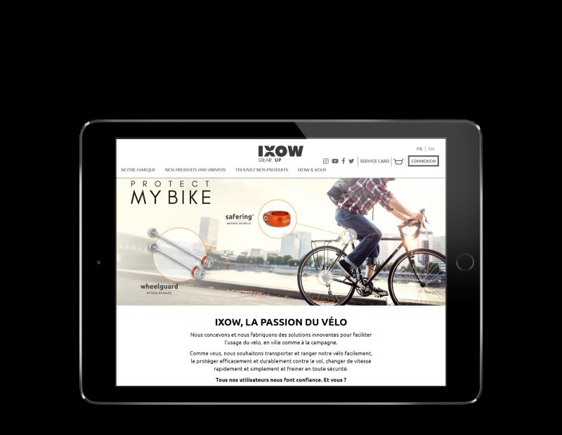 L'agence web REZO 21 Pays basque développe le e-commerce d'IXOW sur tablette