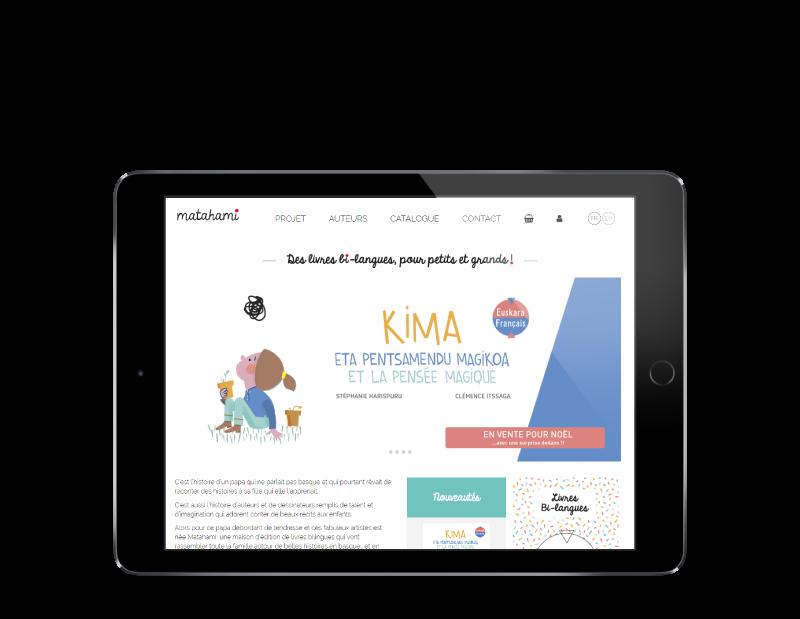 Matahami, boutique en ligne WooCommerce développée par l'agence web REZO 21 Anglet
