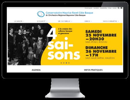 L'ORBCB Bayonne choisit l'agence web REZO 21 Pays Basque pour la refonte de son site Internet sur grand écran