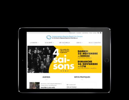 L'ORBCB Bayonne choisit l'agence web REZO 21 Pays Basque pour la refonte de son site Internet responsive tablette