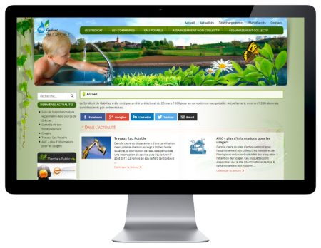Agence web rezo 21 développe le site Internet responsive du syndicat de gréchez
