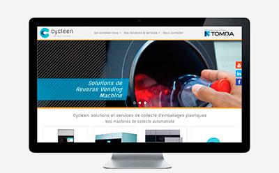 Cycleen, distributeur exclusif des récupératrices automatisées TOMRA pour la France, sélectionne l'agence web REZO 21 pour la conception de son site Internet responsive design