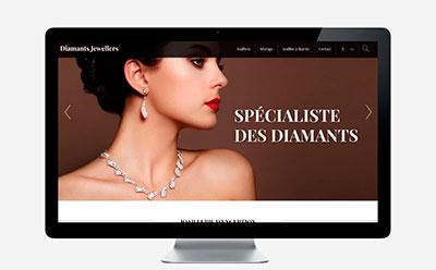 Le joaillier de Biarritz Diamants Jewellers sélectionne l'agence web REZO 21 Anglet pour la création de son site Internet
