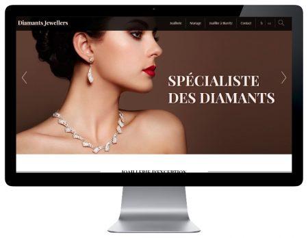 Diamants Jewellers, une création de sites Internet de l'agence web REZO 21 Pays Basque