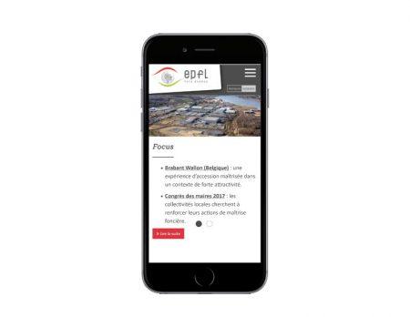EPFL Pays Basque réalise son nouveau site Internet avec l'agence web REZO 2 Anglet vue sur mobile
