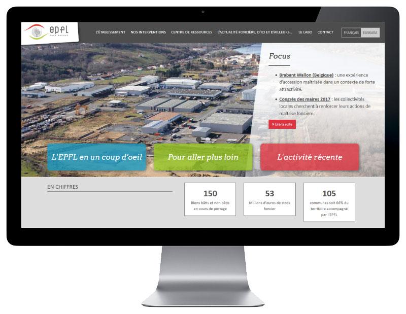 EPFL Pays Basque réalise son nouveau site Internet avec l'agence web REZO 2 Anglet