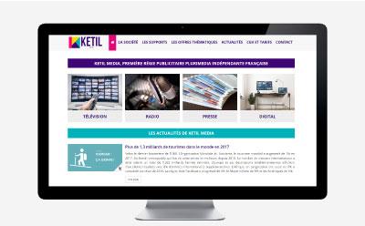 La régie publicitaire KETIL MEDIA choisit l'agence web REZO 21 pour la création de son site Internet