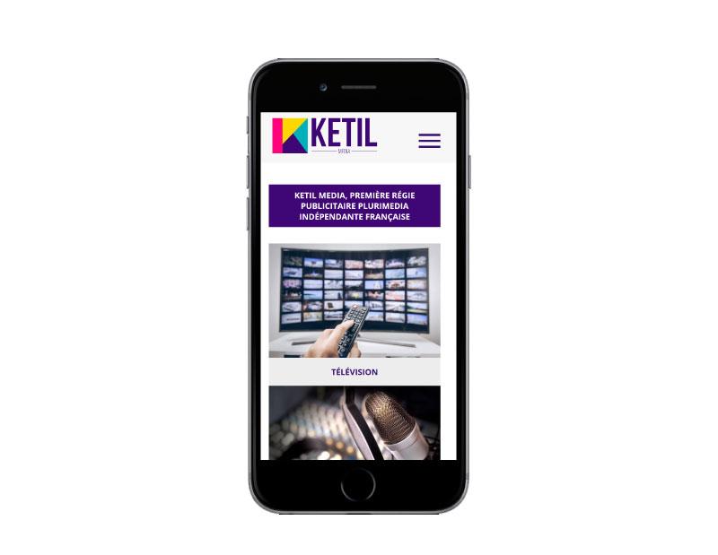 Rezo 21 agence web bayonne développe le site internet de la régie publicitaire ketil média sur mobile
