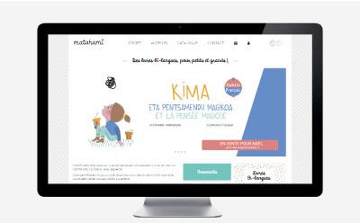 Matahami, maison d'édition de livre jeunesse bi-lingue choisit l'agence web REZO 21 pour la conception de sa boutique en ligne