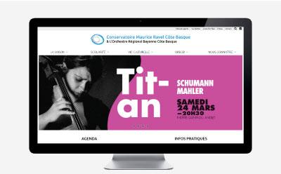 Le conservatoire Maurice Ravel et l'Orchestre Régional de Bayonne Côte Basque sélectionnent l'agence web REZO 21 pour la refonte de sa communication digitale