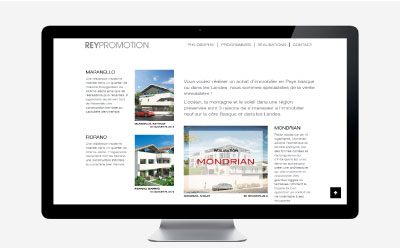 Rey immobilier, promoteur immobilier premium du Pays basque confie la refonte de son site Internet à l'agence web REZO 21