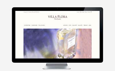 Villa Flora Parfums, marque de senteurs de Provence, ouvre sa boutique en ligne avec l'agence web REZO 21 et la solution WooCommerce responsive mobile