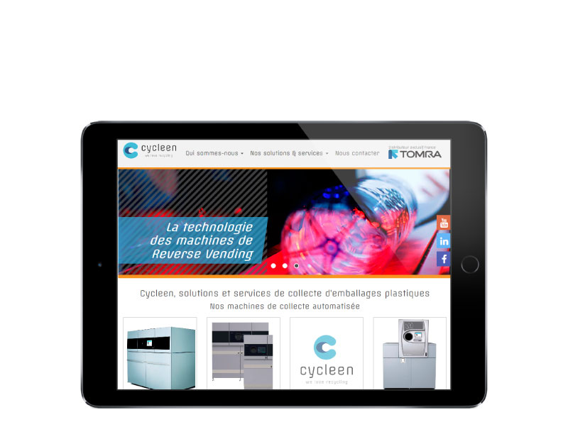 Agence web REZO 21 Anglet Pays Basque réalise la création du site Internet de Cycleen sur tablette