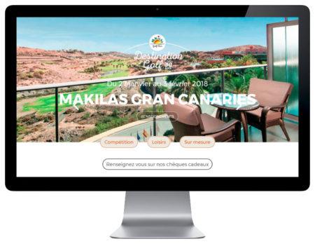 Makilas Golf Tour, une création de l'agence web REZO 21 Anglet sur grand écran