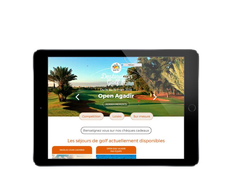 Makilas Golf Tour, une création de l'agence web REZO 21 Anglet sur tablette