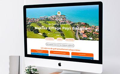 Challenge Organisation, agence spécialisée dans les séjours et compétitions de golf, confie la refonte de son site Internet à l'agence web REZO 21 Anglet