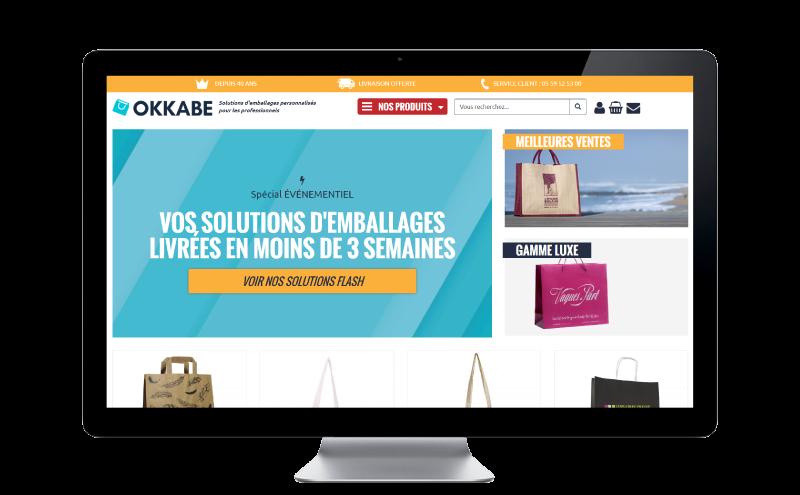 La nouvelle boutique en ligne pour les solutions d'emballage personnalisées pour les professionnels, c'est www.okkabe.com !