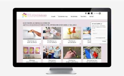 DG Distribution, spécialiste de la distribution d'imprimés en boites aux lettres choisit l'agence web REZO 21 pour la refonte de son site Internet