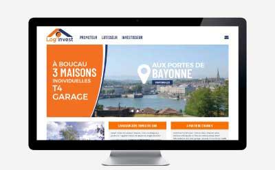 Log'invest, promoteur immobilier lotisseur au pays basque et sud landes sélectionne l'agence web REZO 21 pour la création de son site Internet avec WordPress