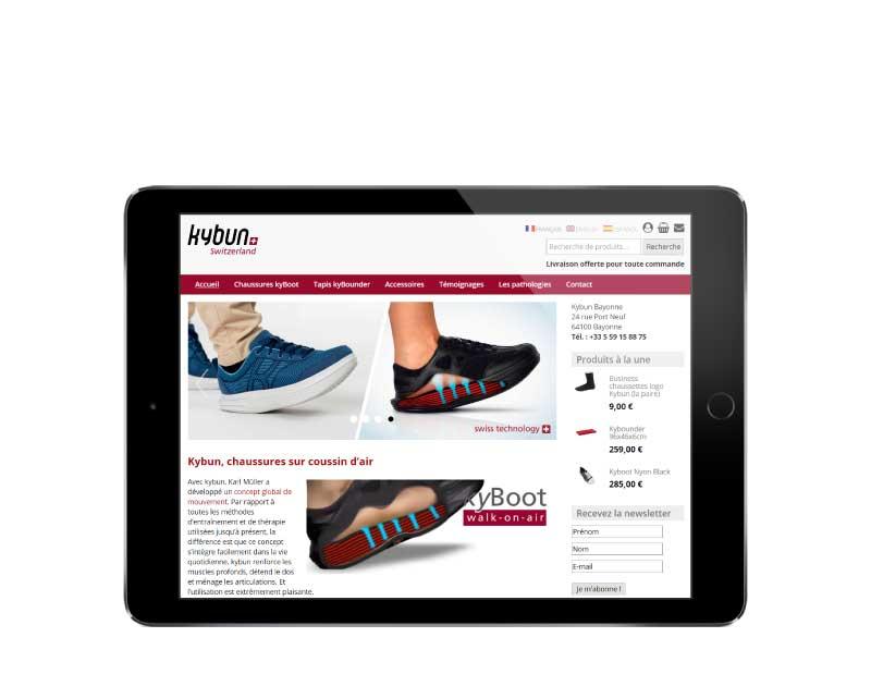 boutique en ligne responsive tablette de vente de chaussures à bayonne