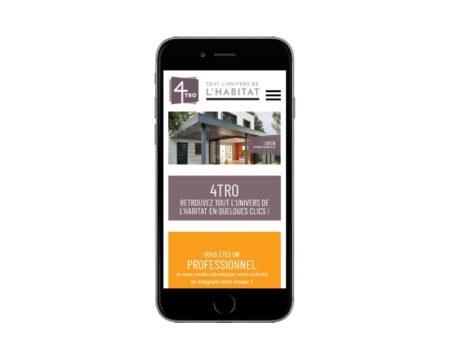 Site Internet responsive pour professionnels du batiment et de l'habitat responsive mobile