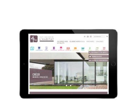 Site Internet responsive pour professionnels du batiment et de l'habitat responsive tablette
