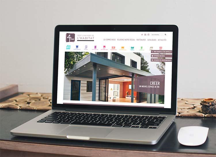 Pour la création de son site Internet, le réseau 4TRO sélectionne l'agence web REZO 21 Pays basque