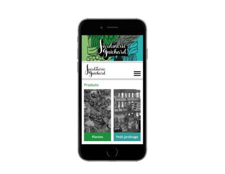Site internet jardinerie biarritz pays basque mobile