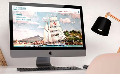 Le site Internet de Trois Mâts Basque, association pour la construction d'un trois mâts au Pays Basque est en ligne