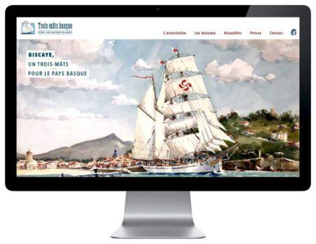 SIte web pour association du pays basque responsive desktop