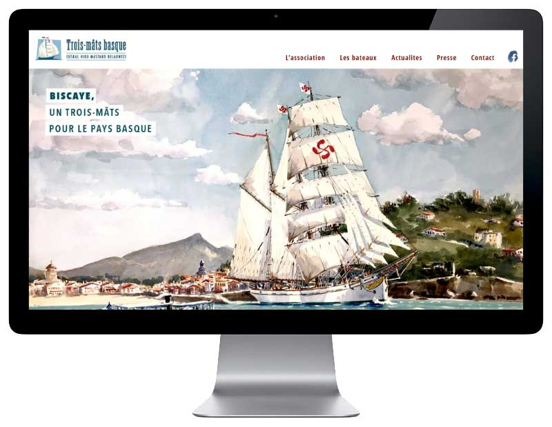 SIte web pour association du pays basque responsive desktop