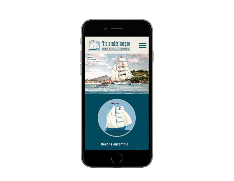SIte web pour association du pays basque responsive mobile