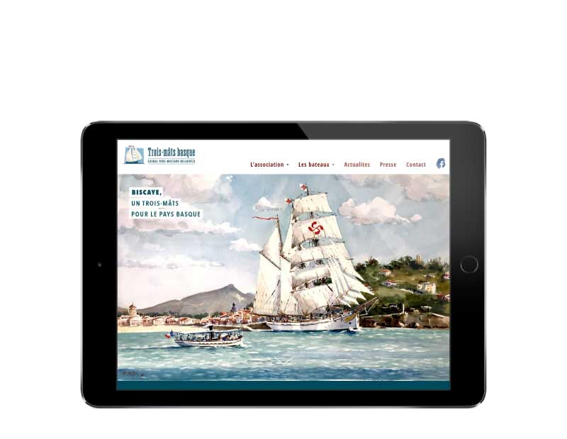 SIte web pour association du pays basque responsive tablette