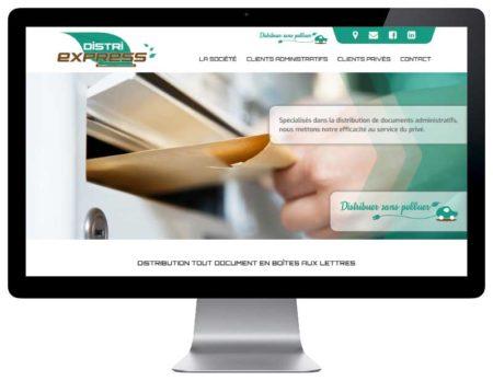 Site internet société service de distribution en boite aux lettres responsive desktop