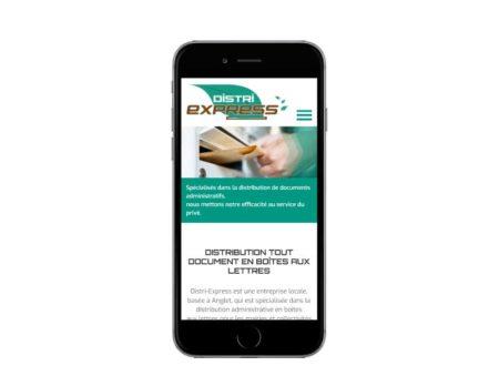 Site internet société service de distribution en boite aux lettres responsive mobile