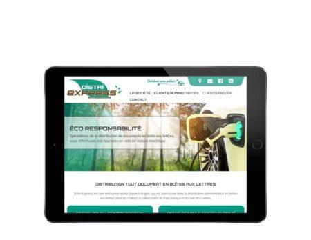 Site internet société service de distribution en boite aux lettres responsive tablette