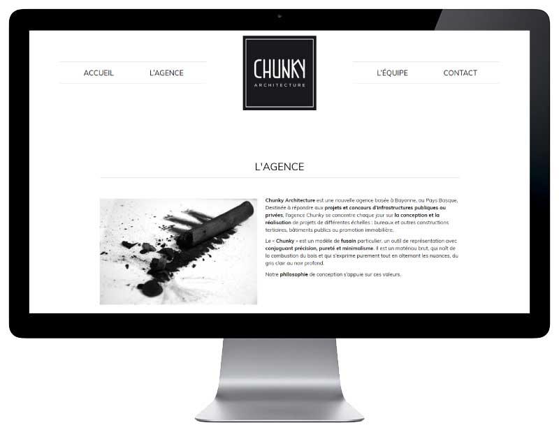 Site internet responsive mobile pour architecte bayonne sur grand écran